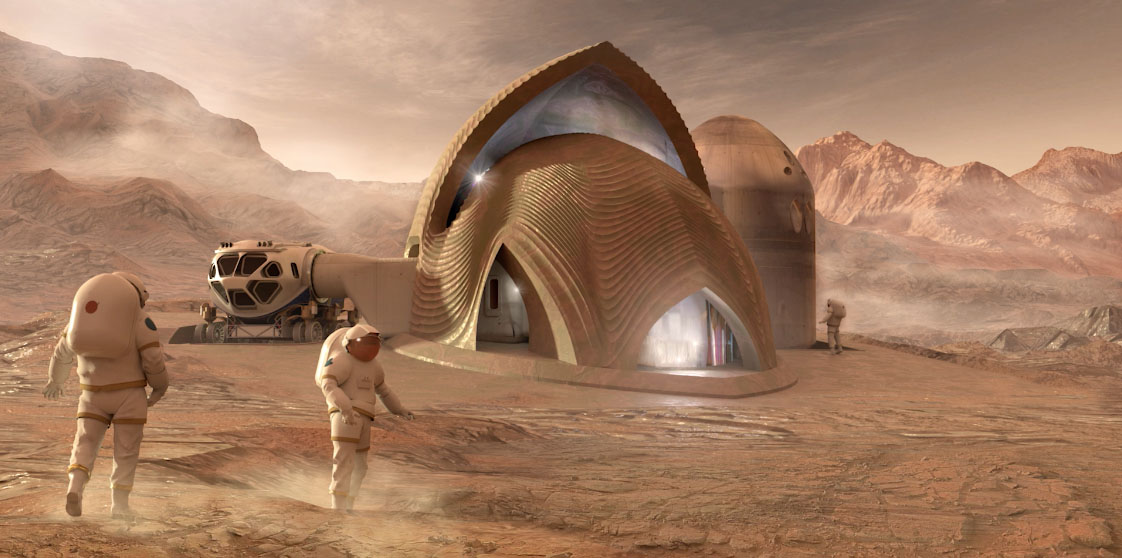 4th Place winner, Team SEArch+/Apis Cor of New York in NASA's 3D-Printed Habitat Challenge