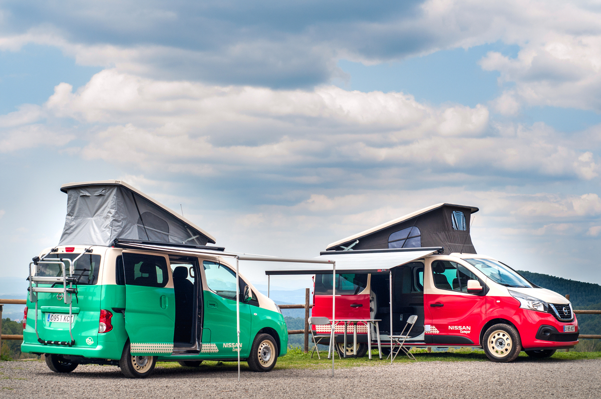 Nissan nv300-e and nv200 camper vans